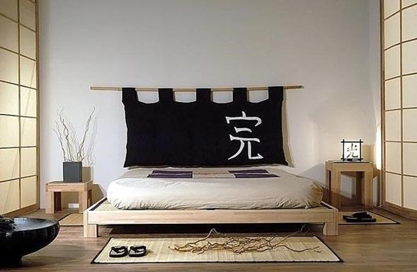 Decora y disena camas al estilo japones for Dormitorio zen oriental