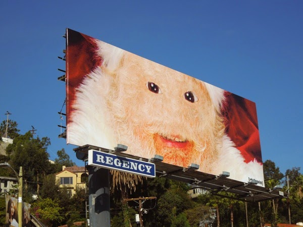 Adult Swim furry Santa billboard 2014