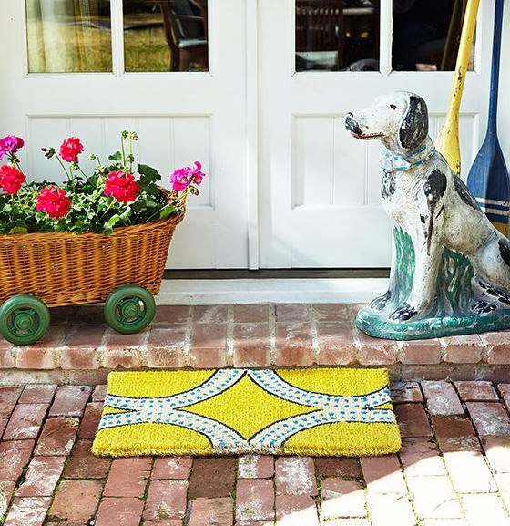 yellow doormat, cute doormat, cheap doormat