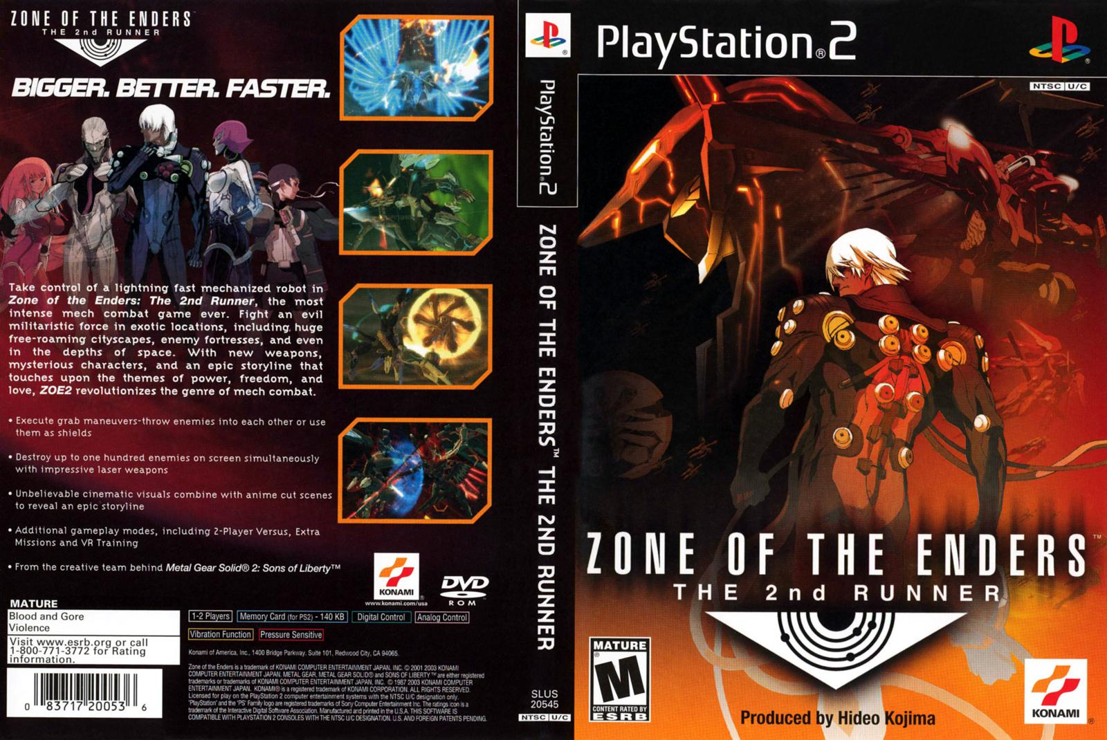 Capa Zone Of The Enders The 2nd Runner PS2