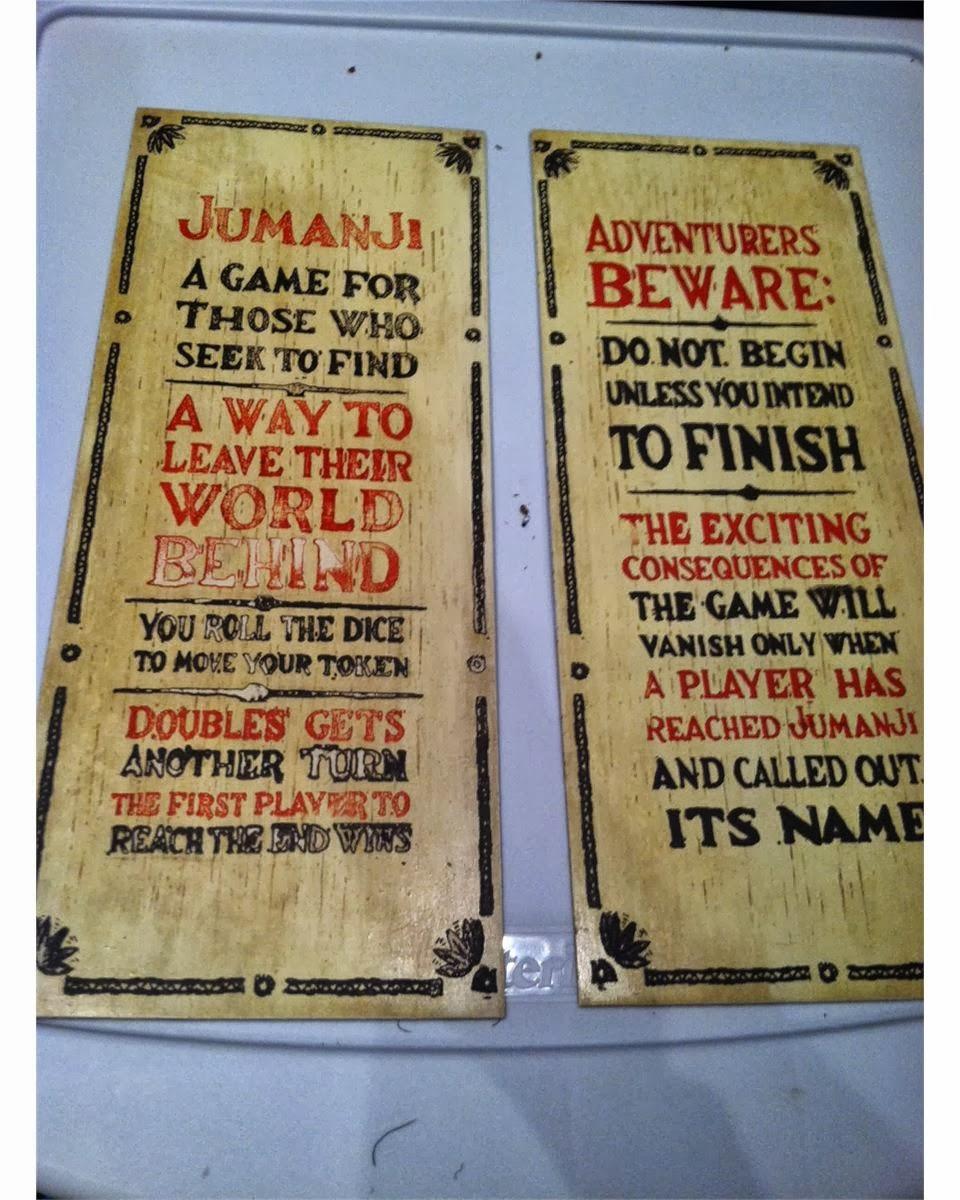 During a zombie apocalypse Jumanji Board Game