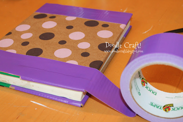 Duct Tape Book Cover Tutorial ~ Doodlecraft how to cover a textbook with duct tape