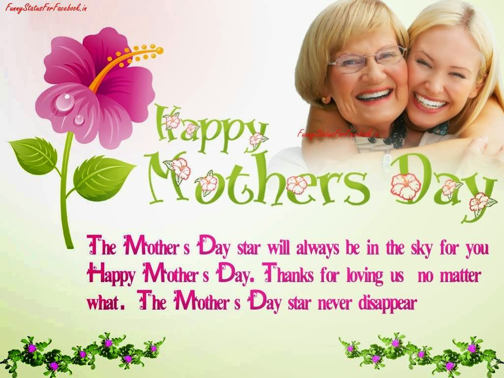 Happy Mothers Day Message Spesial Thanks and Greeting eCard Image By Funnystatusforfacebook.in