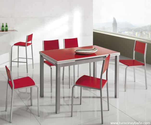 Mesa cocina leroy merlin mesa auxiliar con ruedas leroy for Sillas de cocina rojas