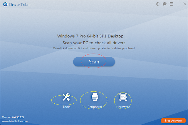 scan for drivers on windows