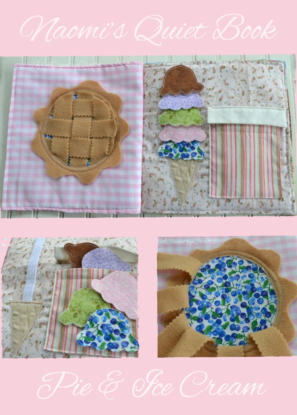 Pie & Ice Cream Quiet Book Page