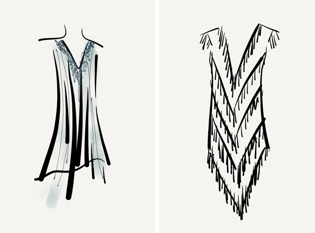 how to draw an easy long skirt with buckle