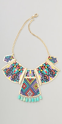 colorful statement necklaces, trend, fashion trend, trend-spotting, jewelry, Noir Jewelry Hacienda Statement Necklace