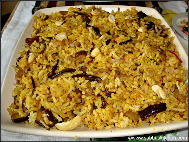Brinjal Rice(Vaangi Baath)
