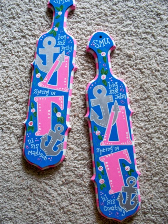 how did you decorate your paddles