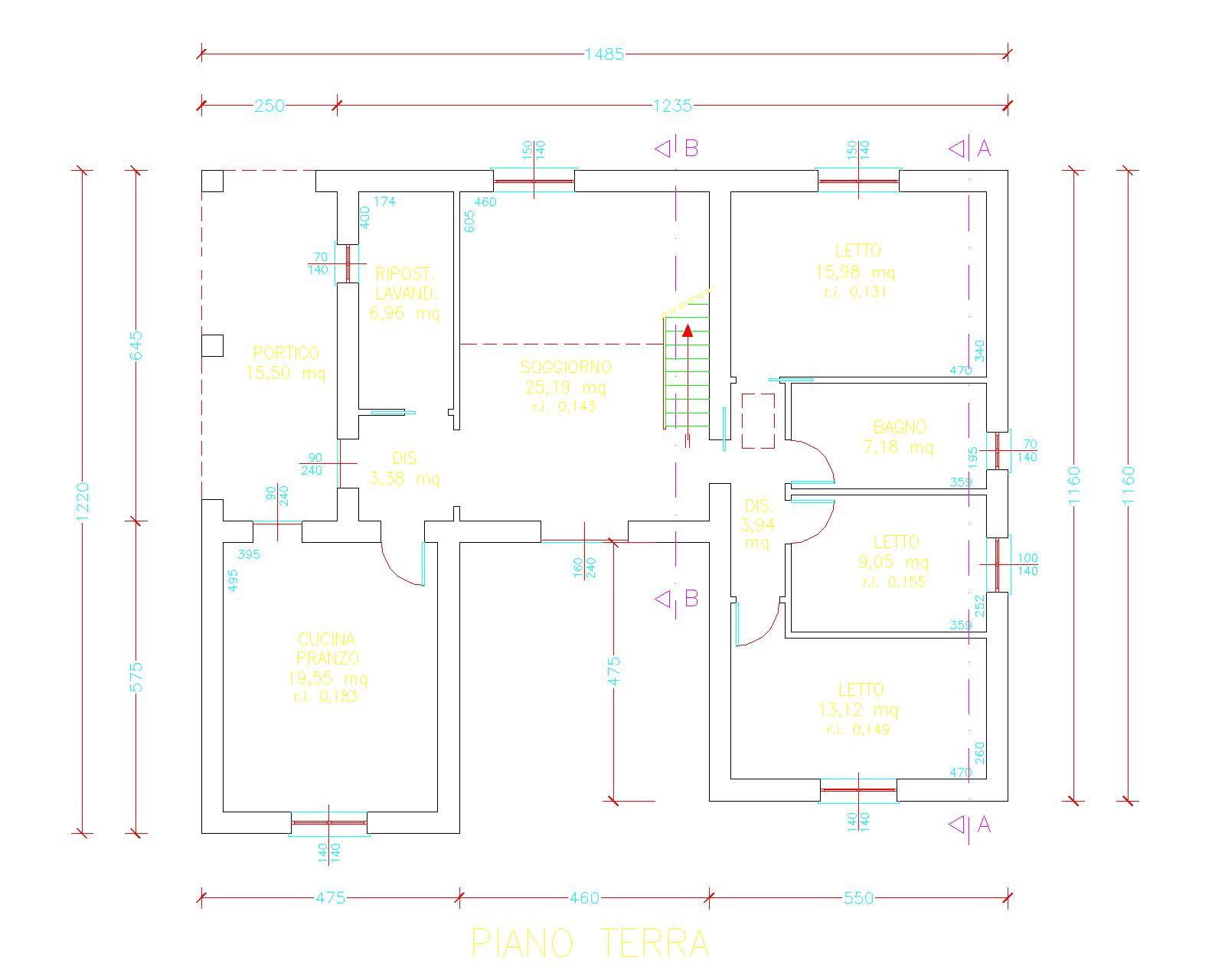 Progetti di case in legno casa 153 mq soppalco for Progetti di case costiere