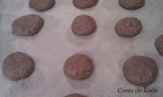 Macarons de chocolate
