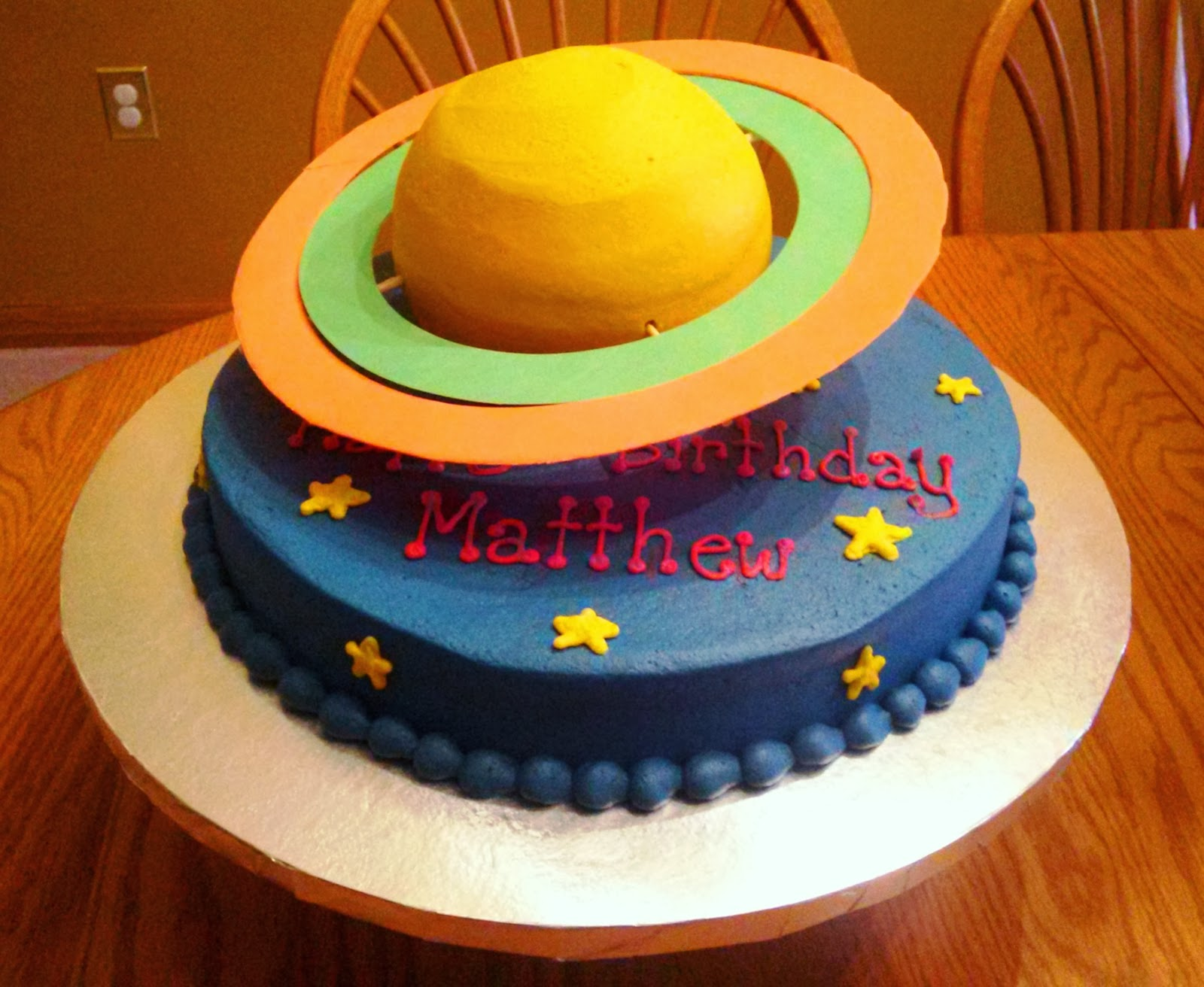 Simply Sweet Saturn Cake