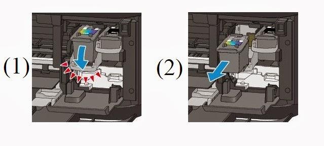 Como cambiar o quitar los cartuchos de tinta canon pg 240 - Como quitar lo negro de la banera ...