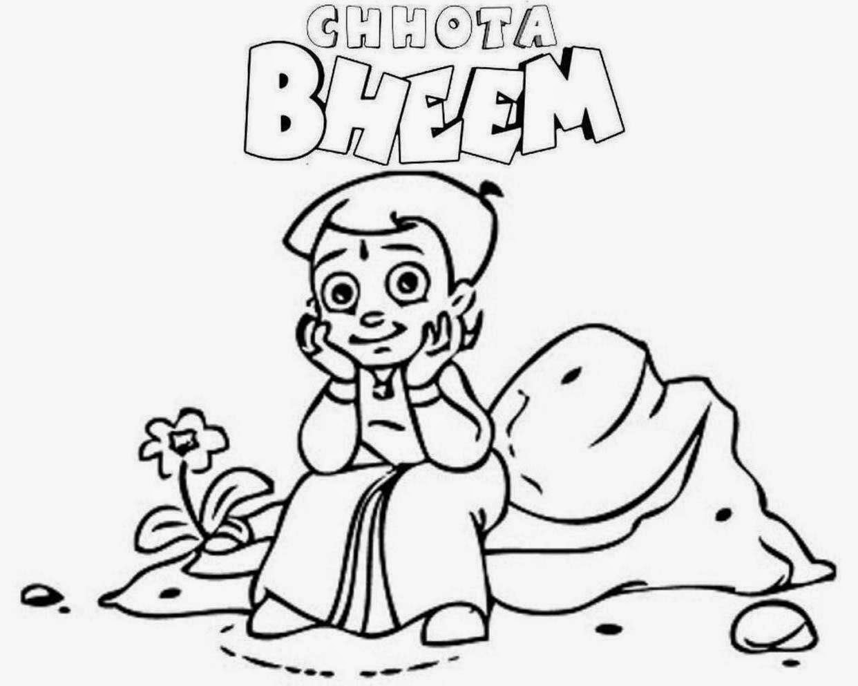 Chota Bheem For Kid Coloring Page Free Wallpaper