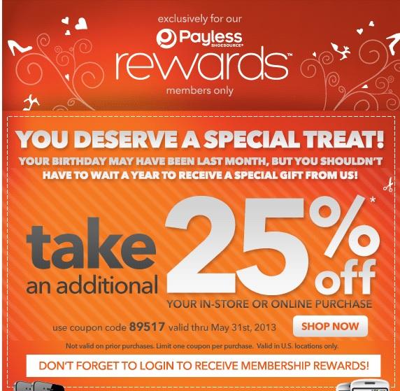 Payless com coupons