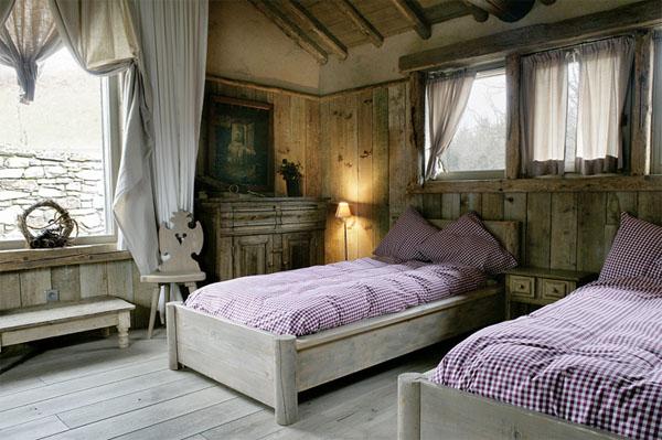 dormitorio doble de la cabaña