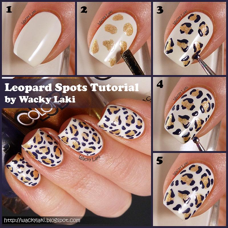 Diy Snow Leopard Nail Art: Wacky Laki: Tutorial: Leopards Spots
