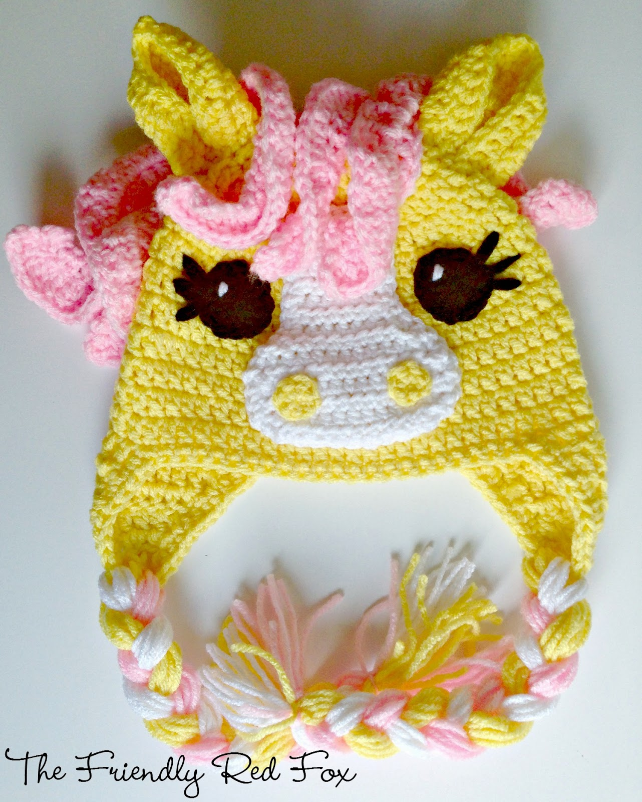 Free Crochet Pattern For My Little Pony Eyes : Free Crochet Little Pony Hat - The Friendly Red Fox