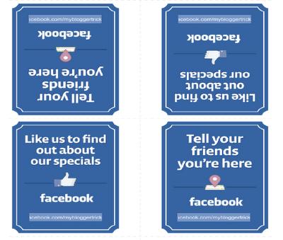 Facebook printable posters