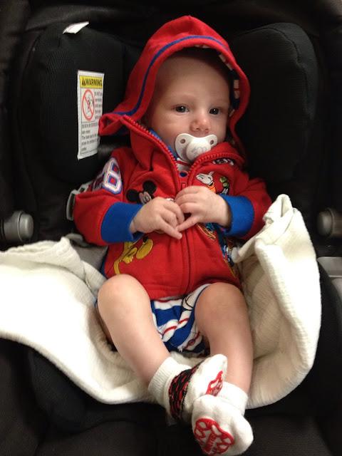Rockin' the Mickey hoodie!