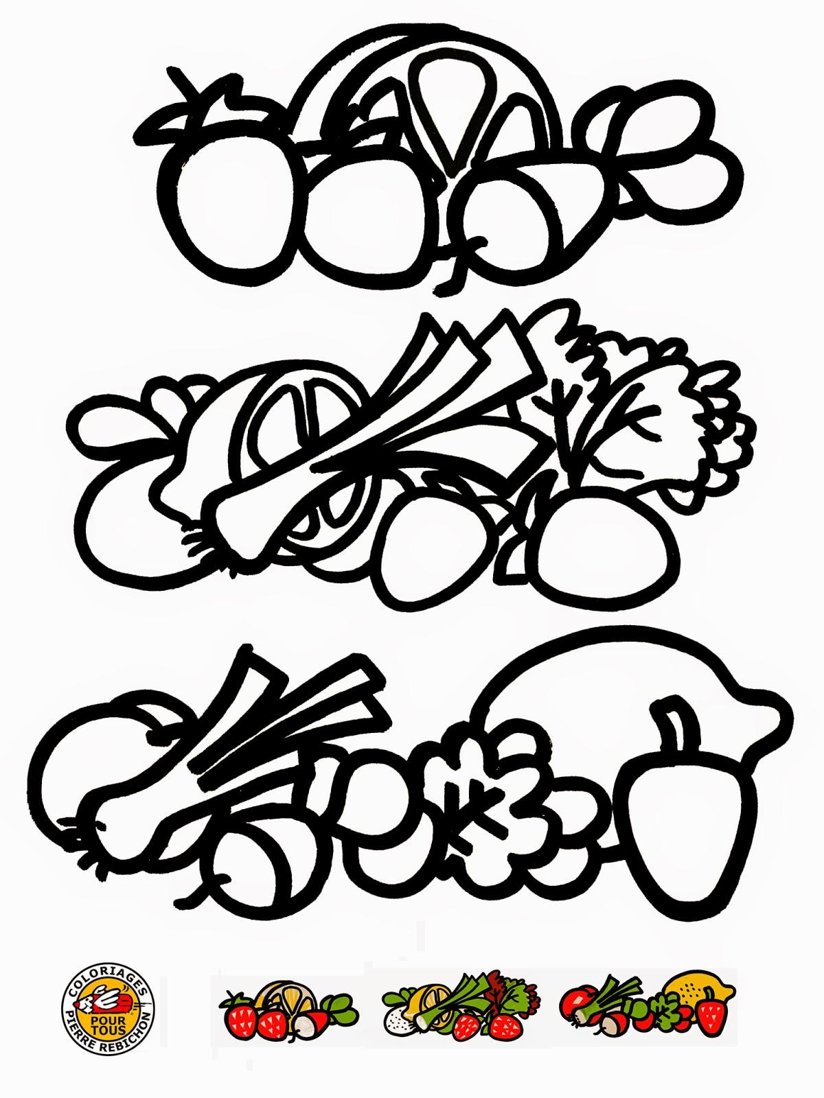 Unique Image De Fruits Et Légumes A Colorier