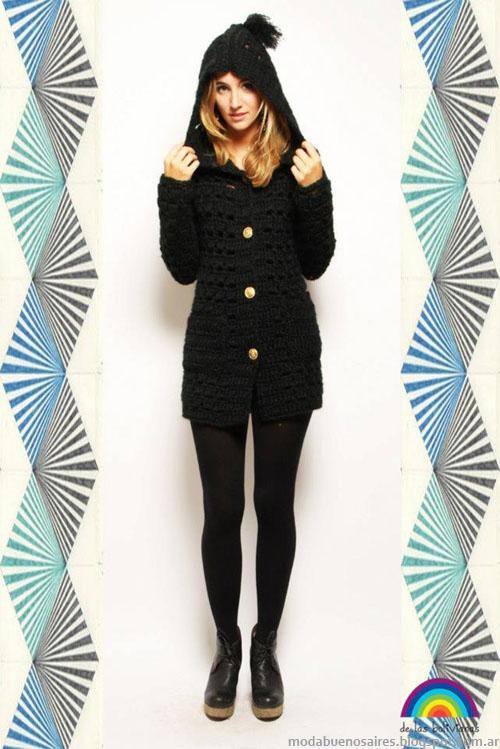 Sacos tejidos invierno 2013 De las bolivianas moda mujer