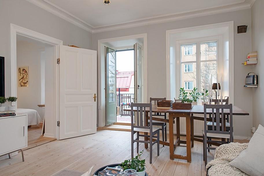 amenajari, interioare, decoratiuni, decor, design interior, apartament 2 camere, spatii mici, scandinav, culoare, sufragerie