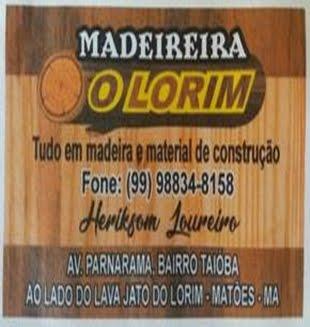"""MADEREIRA """"O LORIM"""""""