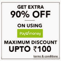 Jabong : Get extra 90% off (maximum Rs 100) on PayUmoney : BuyToEarn