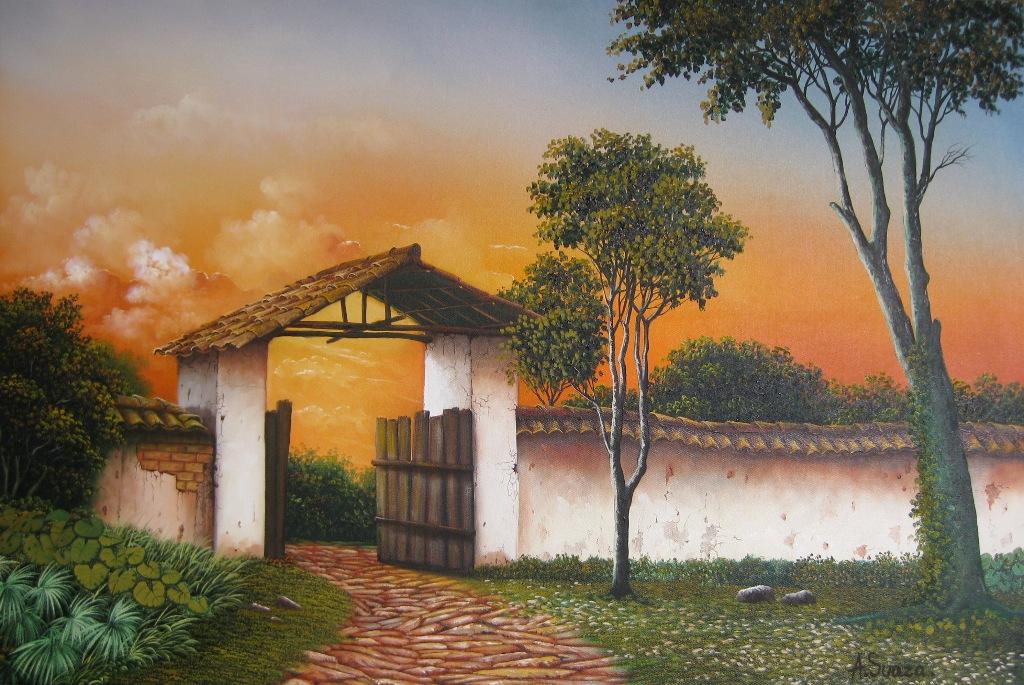 de adolfo suaza serie de pinturas artísticas del paisaje sureño de