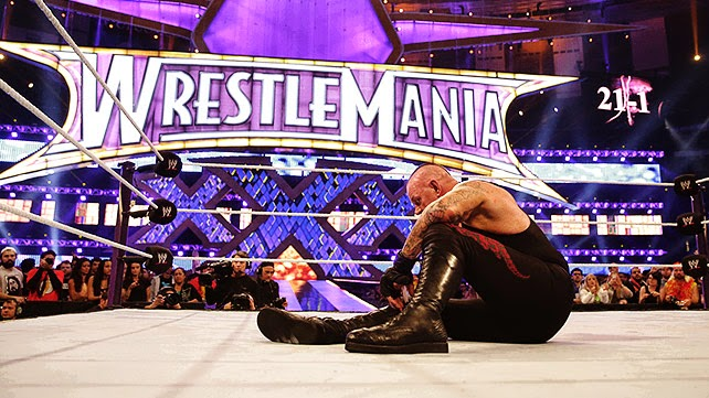 Undertaker Streak ended 21-1 WrestleMania 30 XXX Brock Lesnar Paul Heyman conquer over