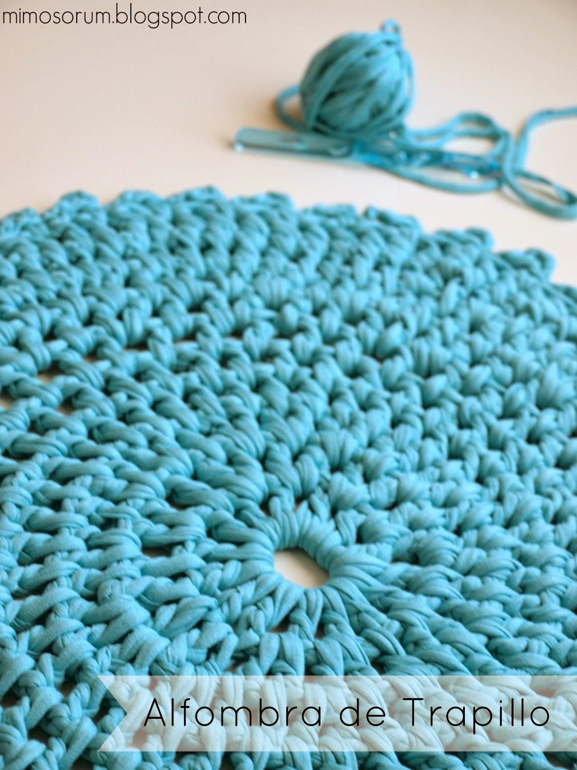 Mimosorum diy alfombra de trapillo diy handmade carpet - Tutorial alfombra trapillo ...