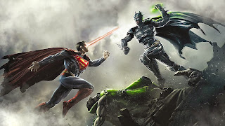 Batman Fighting Superman