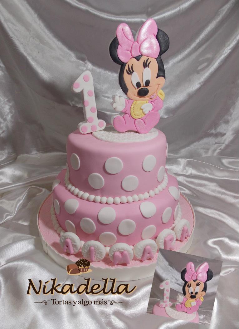 Nikadella: Torta Minnie Baby 1° añito Aimara