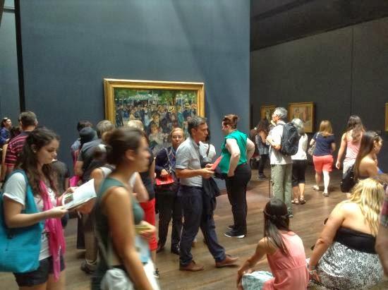 El baile del Moulin de la Galette, Renoir. Orsay, París
