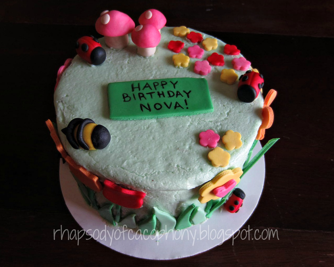 Birthday Cake For Little Sister ~ Rhapsody of cacophony: garden cake and bee smash cake