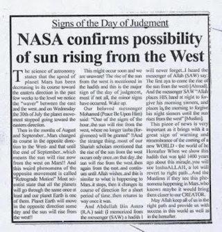 Demitri Bolykov membenarkan matahari akan terbit dari barat