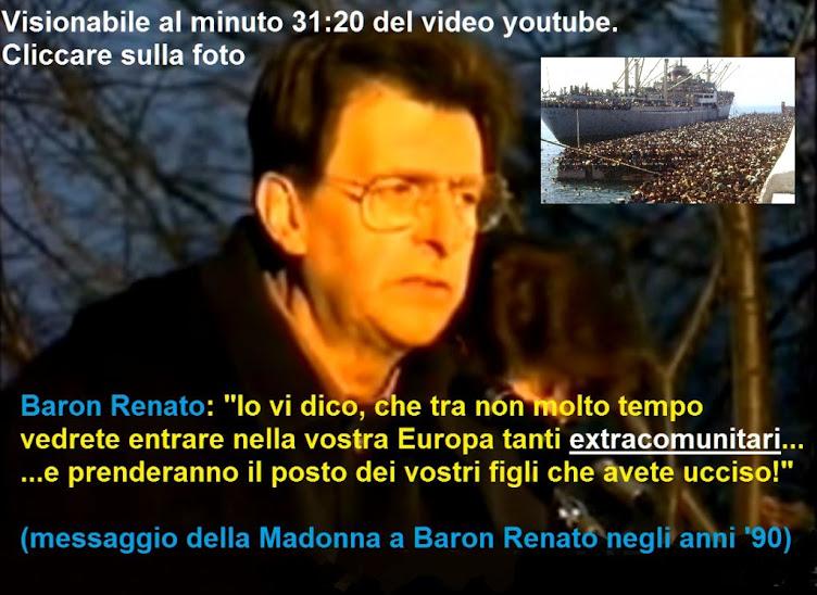 Profezie della Madonna a Baron Renato sull'invasione dei rifugiati ai giorni nostri