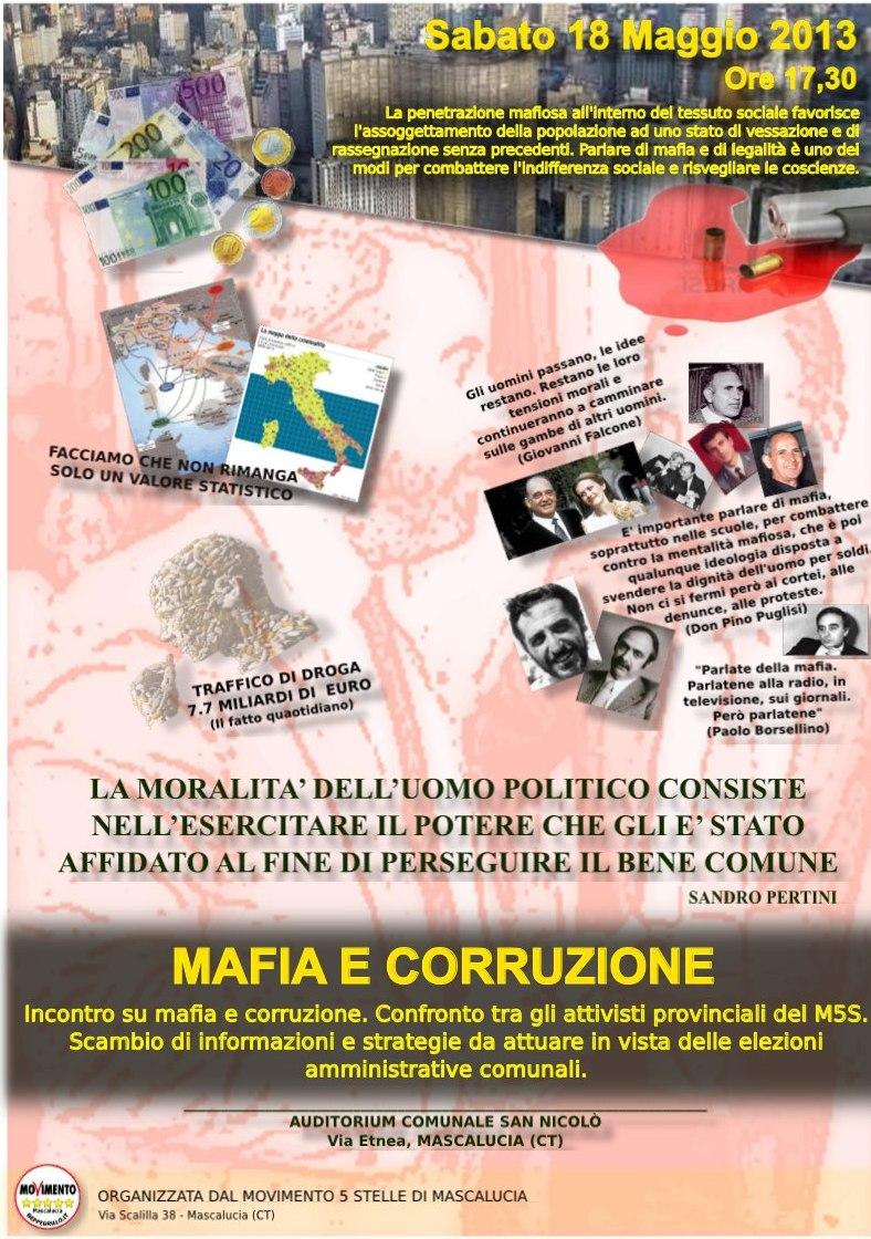 Mafia e corruzione - Incontro a Mascalucia