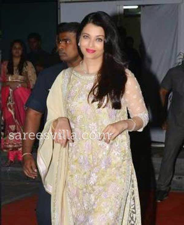Aishwarya Rai At Udhay Shirin Wedding Reception