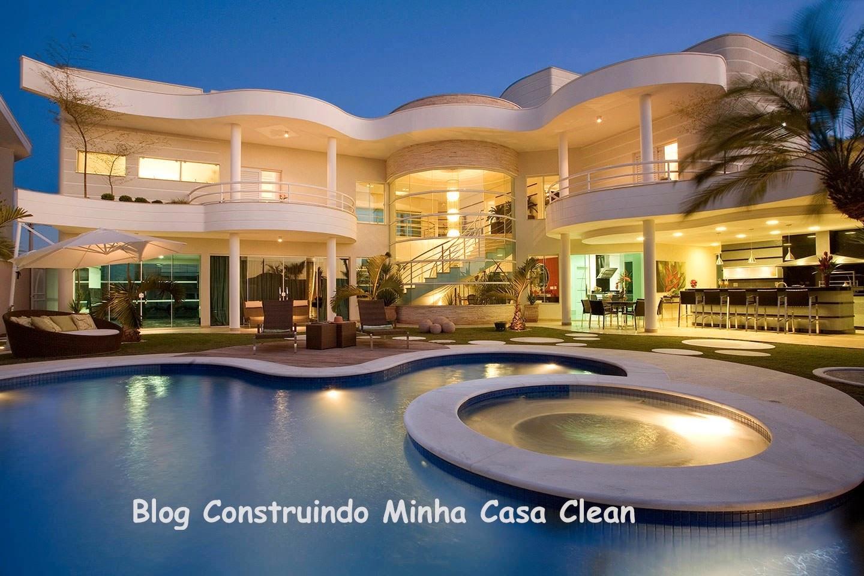 Construindo minha casa clean top 10 fachadas de casas for Fachadas de casas modernas iluminadas