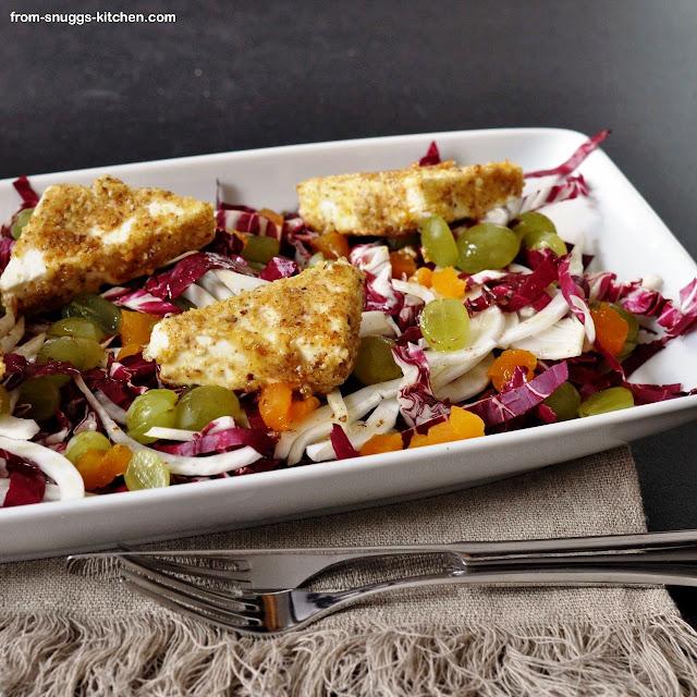 Radicchio-Fenchel-Salat mit Trauben & Feta