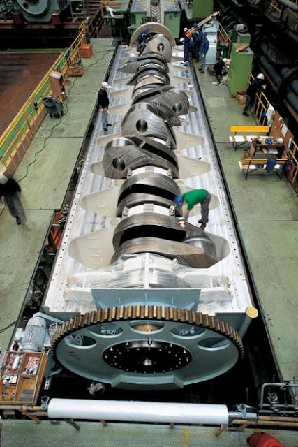 Mesin Induk Diesel Kapal Laut Terbesar di Dunia | Kapal ...