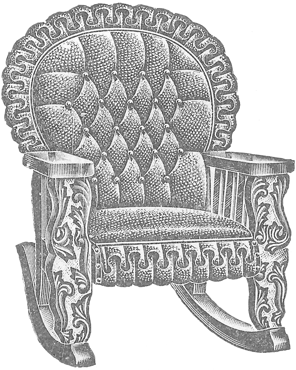 Antique Graphic U2013 1911 Leather Rocking Chair Image