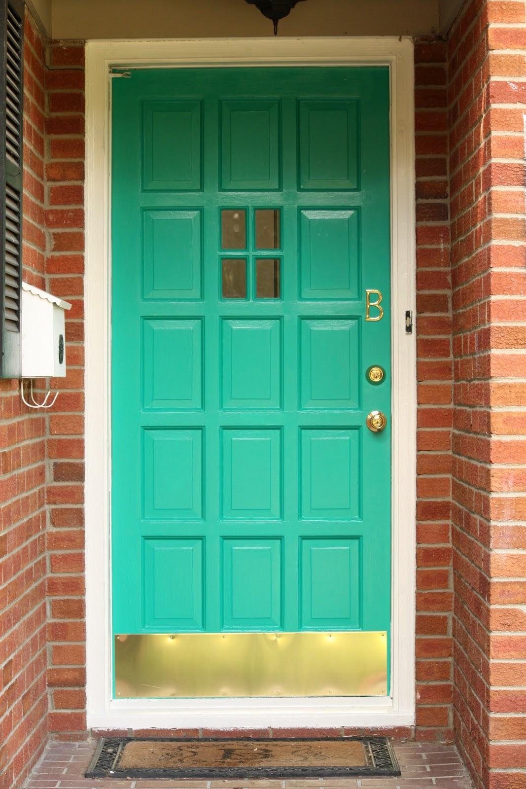 The blue house teal front door for Teal front door