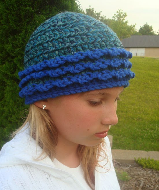 Free Crochet Pattern For Winter Hat : GoCrochet: Crochet Month FREE pattern! Garden in Winter Hat