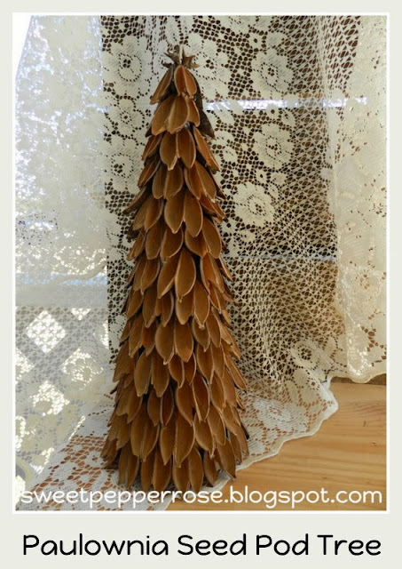 DIY Paulownia Christmas tree