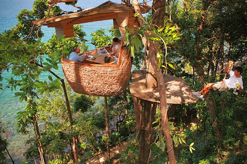 Treepods Restaurant in Thailand