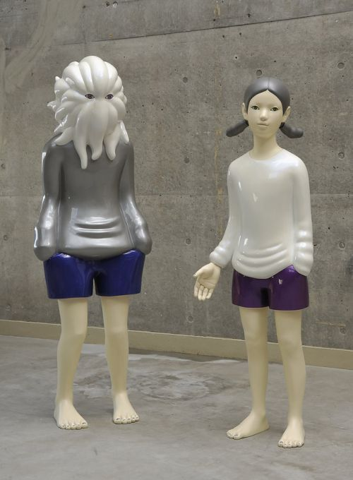 Takahiro Komuro sculptures bizarre colored monsters sweet Our planet